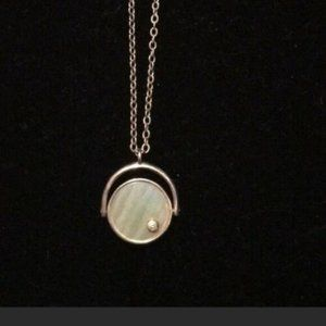 Silpada FLIP OF A COIN Sterling Necklace MOP